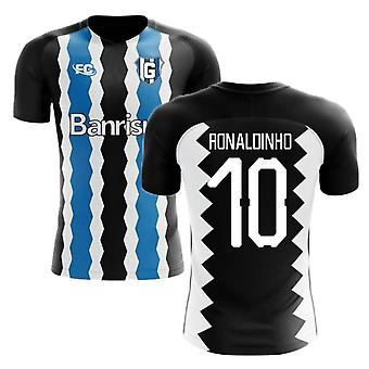 2018-2019 Gremio Fans Culture Home Concept Shirt (Ronaldinho 10) - Adult Long Sleeve
