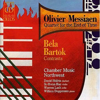 Messiaen/Bartok - Olivier Messiaen: Quartet for the End of Time; Bart K: Contrasts [CD] USA import