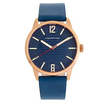 Morphic M77 Series Leather-Band Watch - Blue