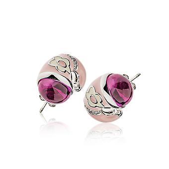 Belle Etoile Pink Fleur Twisted Earrings 03020810801