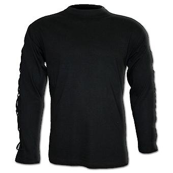 Spiral Direct Gothic GOTHIC ROCK - Cross Strap Longsleeve T-Shirt Black|Gothic|Metal