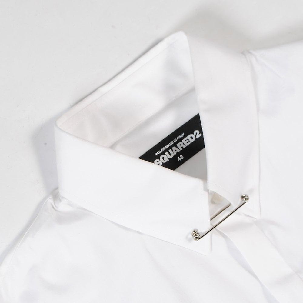 Dsquared2 Collar Clip Shirt White