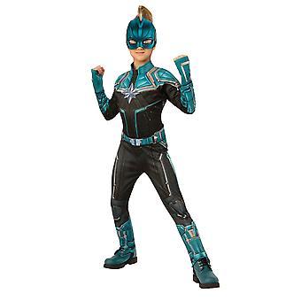 Jenter kaptein Marvel Deluxe drakt