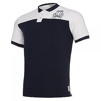 2019-2020 Italy Macron Rugby Leisure Travel Polo Shirt Navy