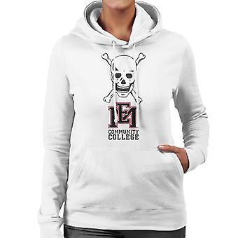 East Mississippi Community College Dark Skull Logo Women's Hooded Sweatshirt