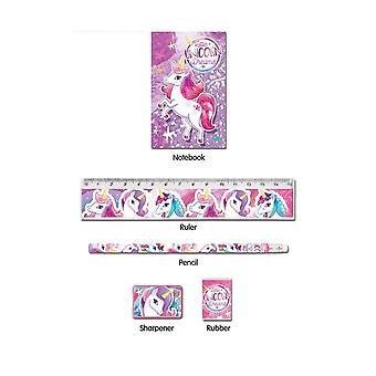 Unicorn Fun 5 Piece Stationery Set