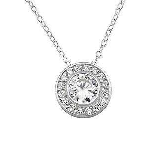 Runde - jeweled 925 Sterling Silber Ketten - W23794x