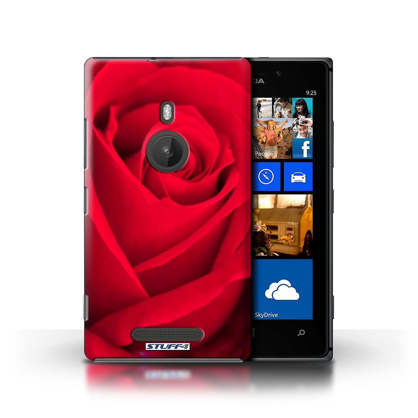 STUFF4 Case/Cover for Nokia Lumia 925/Red Rose/Floral Garden Flowers