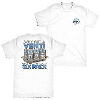 Busch Latte Venti White Six-Pack Tee Shirt