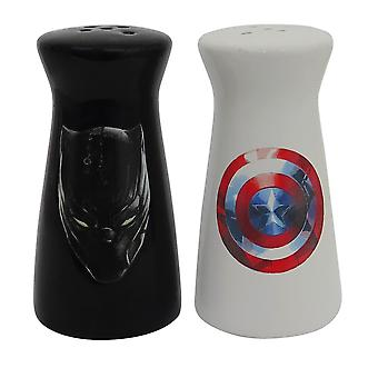 Captain America Black Panther Salz- & Pfefferstreuer