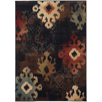 Hudson 4874b black/brown abstract area rug (7'8
