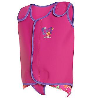 Zoggs Kids en néoprène Durable sirène fleur Baby Wrap rose caractéristiques attaches