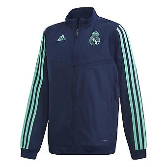 2019-2020 Real Madrid Adidas EU presentasjon jakke (Night Indigo)-barn