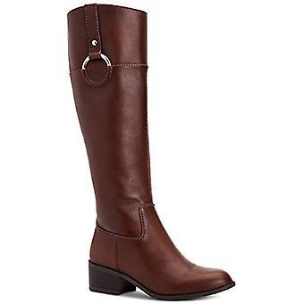 الفاني المرأة برياه النسيج جولة تو الركبة أحذية الأزياء الراقية