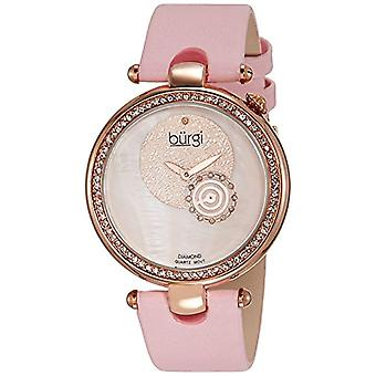 Burgi BU42PK wrist watch for women, fabric strap, pink
