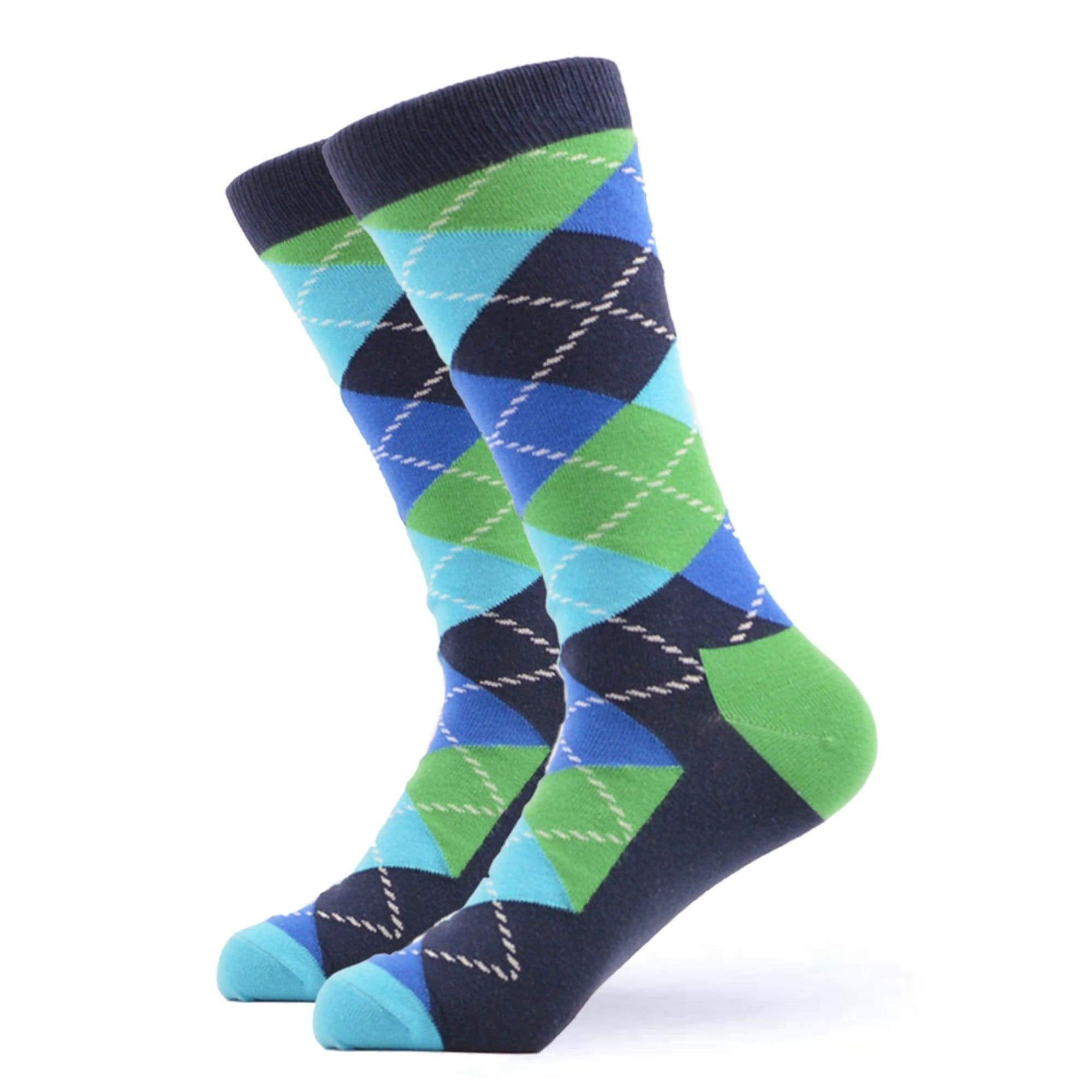 Men's bright cross pattern gift box 3 pairs of socks