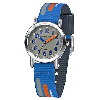 JACQUES FAREL Kids Wristwatch Analog Quartz Boys Textile Ribbon KPS 201 Blue