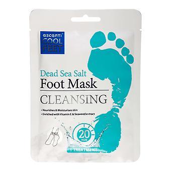 Escenti Cool Feet Foot Mask Sock ~ Dead Sea Salt