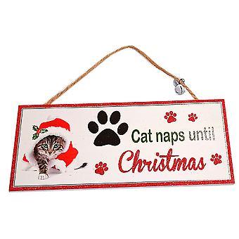 Santa Paws Oblong Plaque Cat - Cat Naps until Christmas by Shudehill Gitware