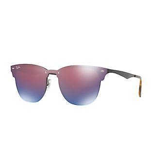 Okulary przeciwsłoneczne Ray-Ban Blaze Clubmaster RB3576N 153/7V Black/Dark Violet-Blue Mirror