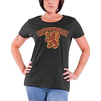 Harry Potter T Shirt Gryffindor Sport new Official Womens Skinny Fit Charcoal