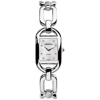 Michel Herbelin Womens Kyudo Diamond and MOP Dial Stainless Steel Bracelet 17471/B89 Watch