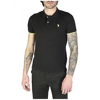 U.S. Polo-kleding-Polo-52432_41029_199-heren-zwart, geel-S