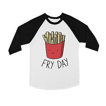 365 Printing Fry Day Youth Baseball Shirt Cute French Fries Raglan Tee for Teens