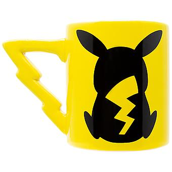 Pokemon Pikachu Sculpted Tail Handle 20 Ounce Ceramic Mug