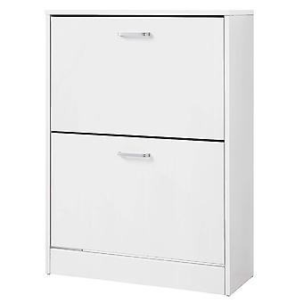 Closed shoe cabinet with 2 valves-white