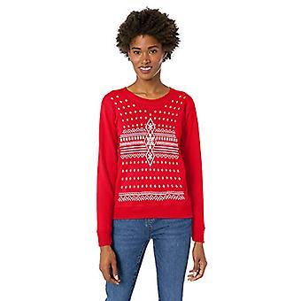 Hanes Women's Ugly Christmas Sweatshirt, Best red, Medium