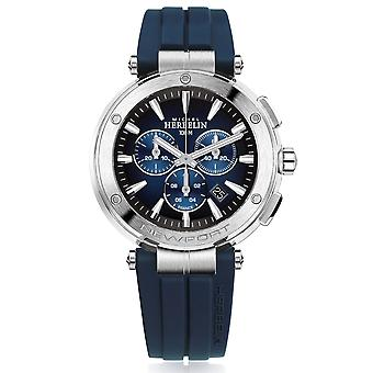 Michel Herbelin 37688-35CB Men's Newport Chronograph Blue Strap Wristwatch