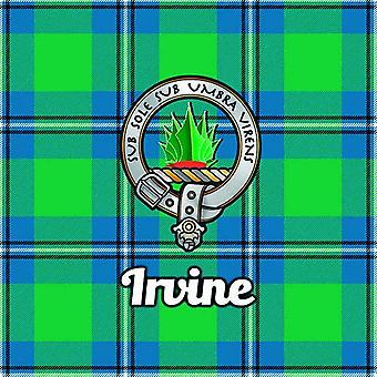 Art2Glass Tartan Clan Coaster - Irvine