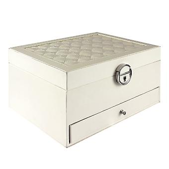 Quilted Jewelry Box - White