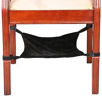 Digiflex Black Under Chair Cat Hammock Blanket Bed Small Pets