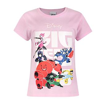 Official Big Hero 6 Girl's Pink T-Shirt