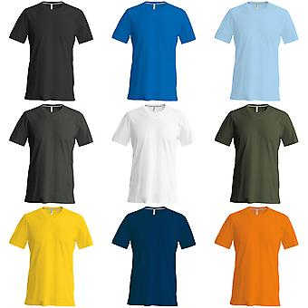 Kariban Mens Slim Fit manga corta cuello redondo t-shirt