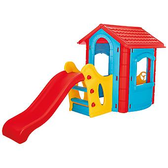 Pilsan Happy House mit Slide Blau/Rot