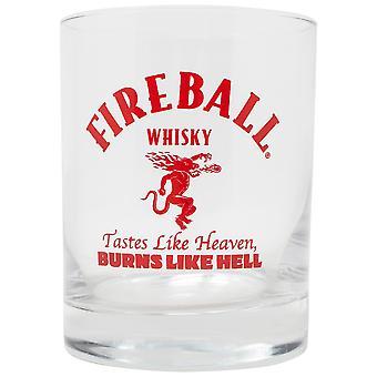 Verre de roches de dragon de whisky de boule de feu