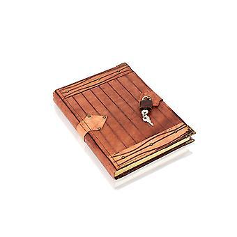 دفتر يومية أصلي قابل للقفل قابل لإعادة التعبئة وملزم بالجلد مع قفل ومفتاح من وودلاند ليذرز