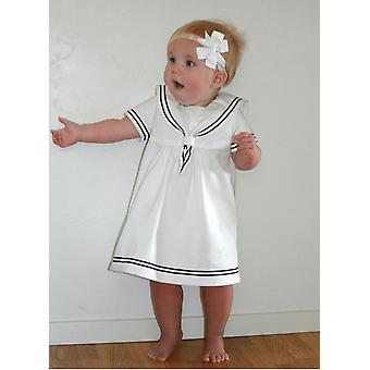 Special Occasions Dress For Baby Girls In Sailor Dress Model - Grace Of Sweden