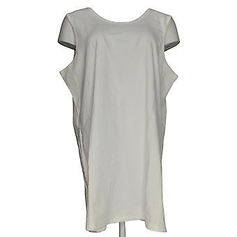 Denim & Co. vrouwen ' s top Essentials tuniek lengte tank wit A272169