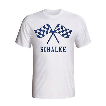 Schalke מנופף דגלים T-חולצת (לבן)