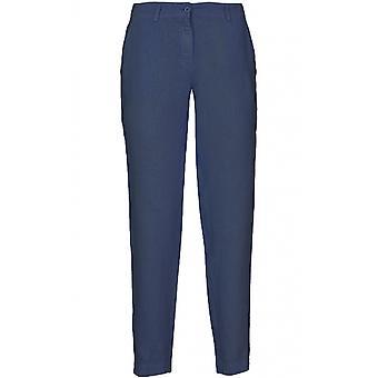 Pantalons de lin bleu foncé dans les coulisses