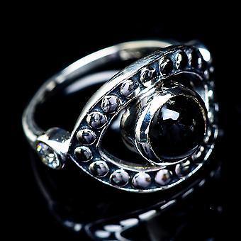 Black Onyx Ring Size 6.5 (925 Sterling Silver)  - Handmade Boho Vintage Jewelry RING5500