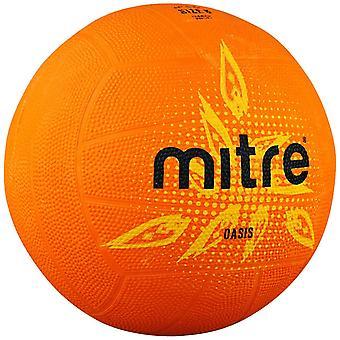 Mitre Oasis Indoor Outdoor Latex Rubber Netball Ball Orange