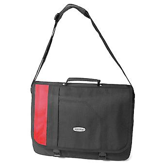 Karabar Milo Laptop Messenger Bag, Black/Red
