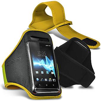 Energizer Energy E500 XLarge Neon Yellow Sports Armband Waterproof Fitness Phone Case