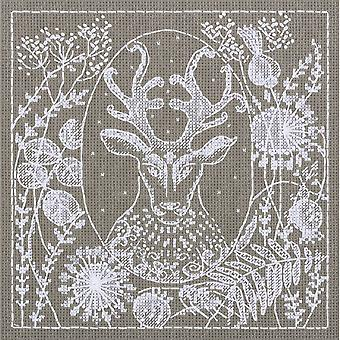 Panna Cross Stitch Kit : White Lace Deer