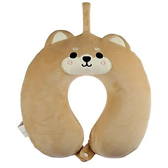 Resteazzz Cutiemals Shiba Inu Dog Plus memorie spuma de călătorie pernă